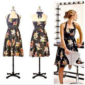 Anthro Moulinette Souers Silk Halter Dress Sz 4